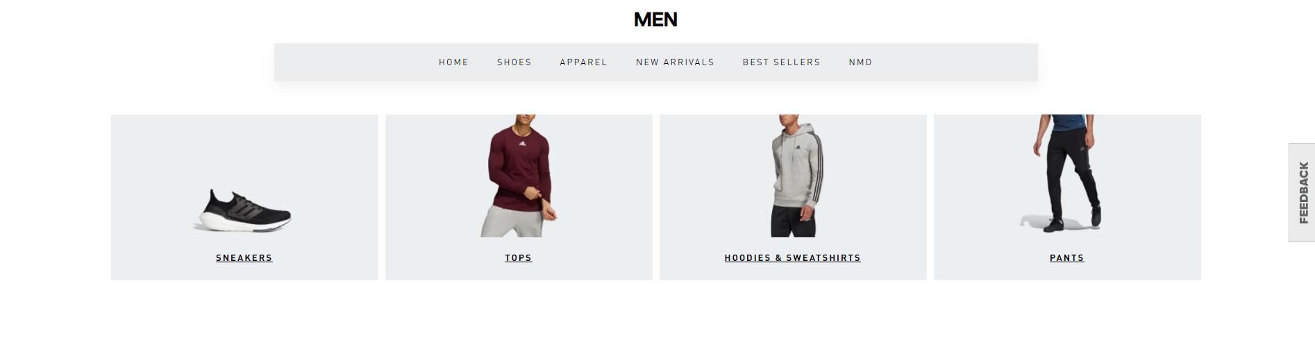 adidas-website-hierarchy