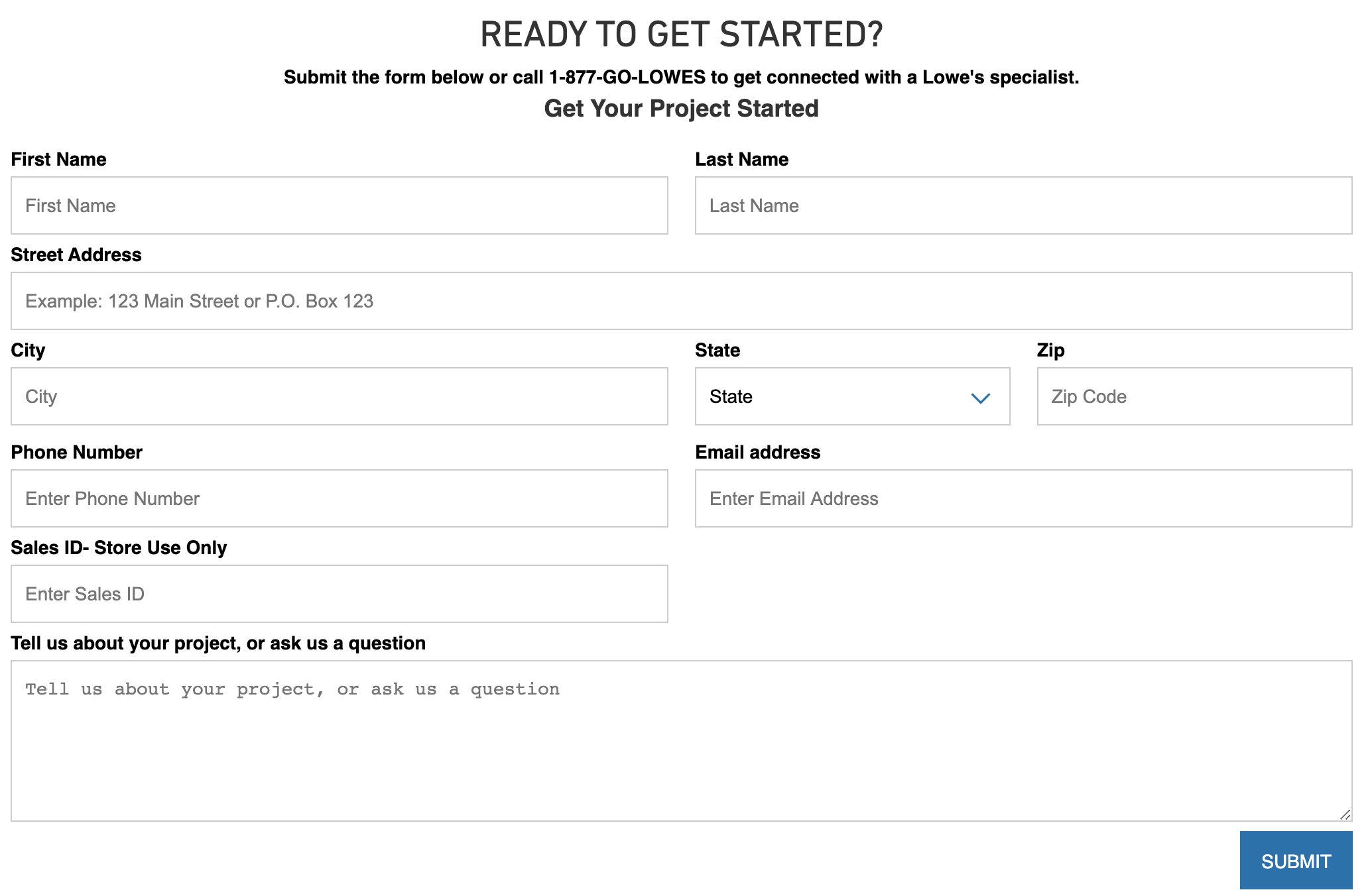 lowes-service-request-form