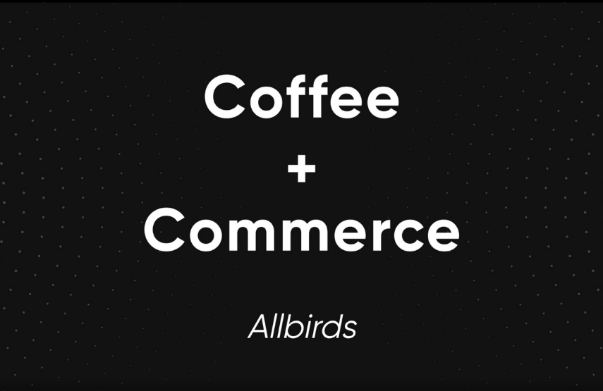 allbirds coffee and commerce